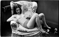 by Stanley Kubrick - Show Girl [Rosemary Williams laying in a chair.] DATE:1949