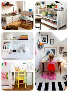 5 ideas para escritorios infantiles. No te pierdas el que recicla la cuna con reja!!
