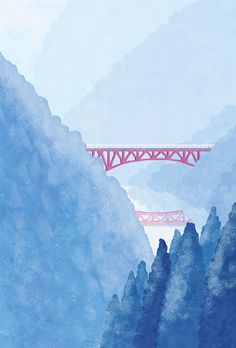 Illustration for New year's card book published in shoeisha.  #illustration #illustrator #landscape  #snow #mountain #winter #風景 #イラスト #イラストレーション #イラストレーター #雪 #山 #冬