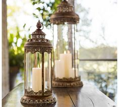 Under glass: Light up the room with #lanterns. #potterybarn