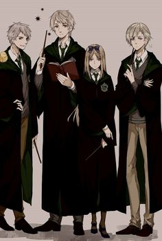 Harry Potter/ Hetalia Crossover: The Slytherins