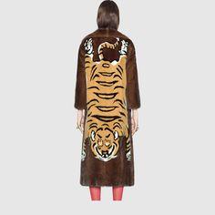 Tiger intarsia mink coat - Gucci Women's Coats & Furs 445052XW5462180