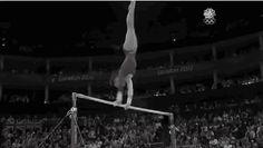 Don't be too upset that American Hero Gabby Douglas didn't win a medal in gymnastics bars finals Monday night. Gymnastics Events, Gymnastics Videos, Simone Biles, Gabby Douglas, Shawn Johnson, Crazy Things, Gifs, Bar, Women