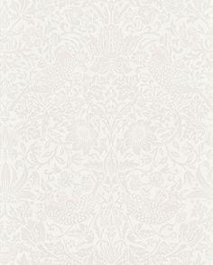 Morris Pure Strawberry Thief Ecru / Cream Wallpaper main image