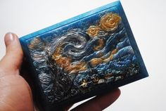 Handmade inspired 'Starry Night' parody Soap  Vincent by NerdySoap