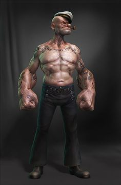 Modern Day Muscles: Realistic Popeye by Lee Romao