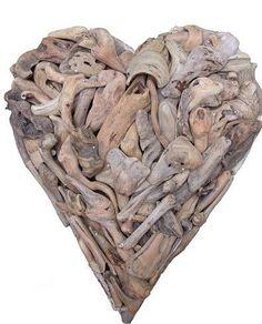 Huge driftwood heart