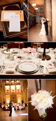 Now I am getting giddy.  Such a gorgeous idea to have a wedding in a library.