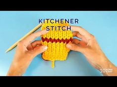 KNITTING in UNDER a MINUTE - KITCHENER STITCH - YouTube