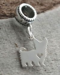 Yorkshire Terrier Dangle Charm Bead - Pandora Compatible