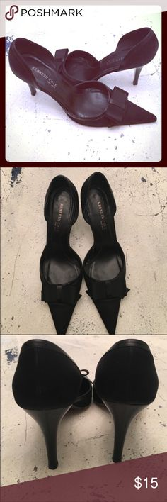Kenneth Cole Black Heels Stunning , classic, and elegant. Pointer toe box with an beautiful bow to accent! I found these on an incredible clearance, worn them a couple times to evening events. Discounted further for you! Kenneth Cole Shoes Heels