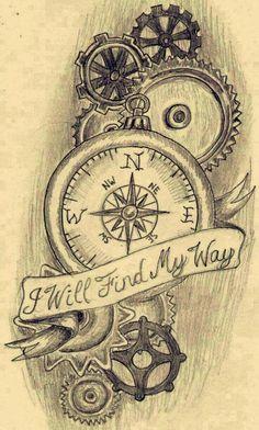 I like this quote - diy tattoo project Tattoo Sketches, Tattoo Drawings, Body Art Tattoos, Portrait Tattoos, Half Sleeve Tattoos Sketches, Clock Tattoos, Henna Tattoos, Tatoos, Chicanas Tattoo