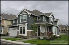 The CD-M3455B3FT-0 home plan is a two story, Craftsman, Arts and Crafts style house plan with 3475 total living square feet. This houseplan has a total of 4 bedrooms, 3 bathrooms, and a 3 car garage. The exterior of this plan has great architectural style and flare, showing off the Craftsman/Arts and Crafts styles masterfully.