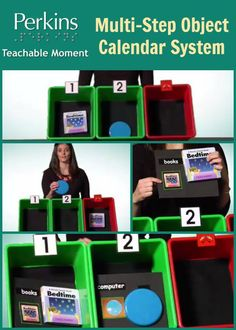 Multi-step object calendar system for students with visual impairments and multiple disabilities