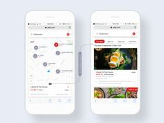 Yelp map view redesign