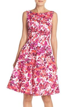 Maggy London 'Cherry Blossom' Print Fit & Flare Dress (Regular & Petite) available at #Nordstrom