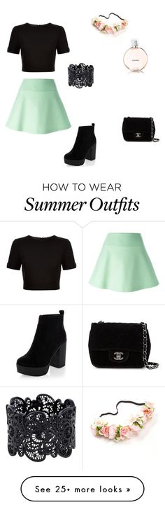 """""""Summer outfit!"""" by klaudia-suranyi on Polyvore featuring RED Valentino, Ted Baker and Chanel"""