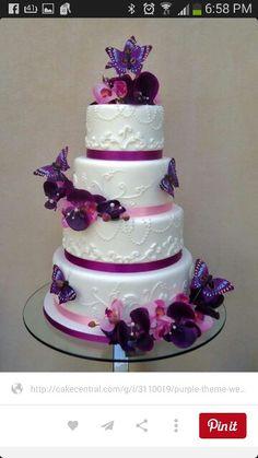 Butterfly purple cake