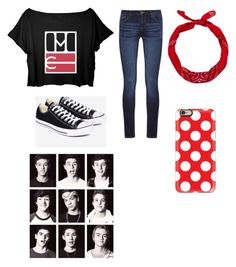 """Magcon is bae"" by gretchenlover ❤ liked on Polyvore featuring DL1961 Premium Denim, Converse, New Look and Casetify"