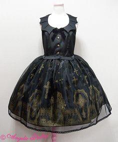 ☆NWOT- Rare Horror Garden Black x Black JSK ☆ « Lace Market: Lolita Fashion Sales and Auctions