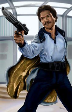 Lando Calrissian - by AJ Moore by GudFit