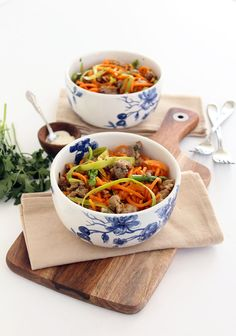 Shaved Asparagus and Sausage Sweet Potato Noodle PastaInspiralized | Inspiralized