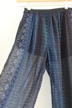 Zara Sheer Blue Print Wide Leg Pants -- found on BIBANDTUCK.COM #Flow