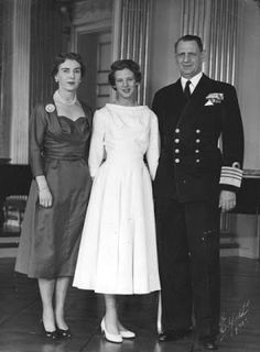 Queen (then Princess) Margrethe with her parents