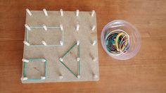 Geo board - geometria Montessori, Coasters, Triangle, Coaster Set
