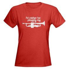 trumpet shirts | Band Gifts > Band T-shirts > Trumpet Player Women's Dark T-Shirt