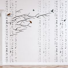 (DESCRIPTION)  -Please review the design size in the main photos description  All measurements are approximate -Whats included: branches, catkins, leaves, birds, trunks -Reusable stencil (you can use it over and over again)  Wall stencils are a timeless design tool as well as a beautiful and cost-effective method of creating a custom look for your home or office. Using J BOUTIQUE STENCILS makes wall stenciling effortless, even beginners get great results. Our Wall Stencils make decorating…