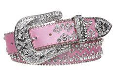 western cowgirl belts | Snap On Western Cowgirl Rhinestone Studded Metallic Leather Belt