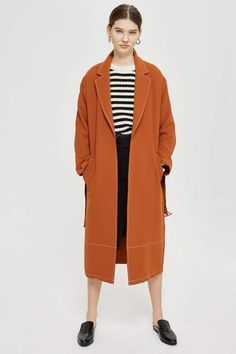 3958fac6f27edb Contrast Stitch Duster Coat - New In Fashion - New In - Topshop