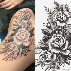 Floral Hip Tattoo done by Warren Oliver at SDI Tattoo Anchorage, Alaska. Geometric Tattoo Design, Floral Tattoo Design, Tattoo Designs, Floral Hip Tattoo, Flower Hip Tattoos, Alaska Tattoo, Anchorage Alaska, Tattoo Models, Tatting