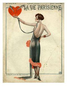 1925 La Vie Parisienne - Magazine Cover - France