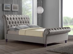 Birlea Castello Super king Size Grey Fabric Bed Frame