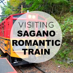 Visit the beautiful Sagano Romantic Train in Arashiyama, Kyoto, Japan.