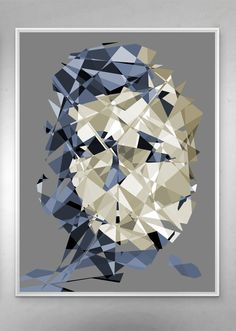 JD BB Contemporary, iPop Art Series / Gallery wrapped canvas print / White shadow gap frame / Size: 75 x 57 inch x 143 cm) / Certified and signed / 2015 Art Series, Frame Sizes, Wrapped Canvas, Evolution, Bb, Canvas Prints, Contemporary, Abstract, Gallery