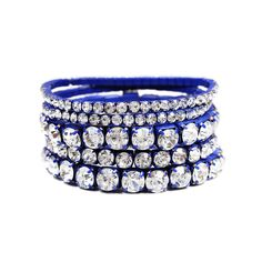 I love the Mocha Crystal Stretch Bracelet Set from LittleBlackBag