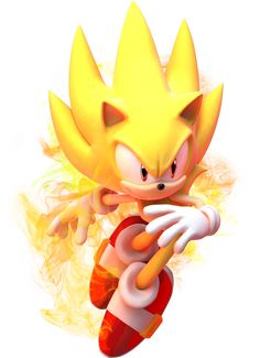 """Sonic the Hedgehog - Super Sonic - """"Time for the big finale!"""" (Sonic Unleashed quote)"""