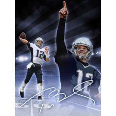 "New England Patriots Tom Brady 24"" x 18"" Signature Player Poster"