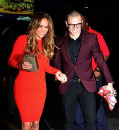 JLO's beau Casper Smart also tried out the geek chic trend. Think it suits him? Have to say I kinda like the look