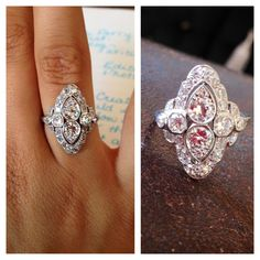 available currently at Marisa Perry Atelier {154 Prince St. SoHo, NYC} antique diamond ring