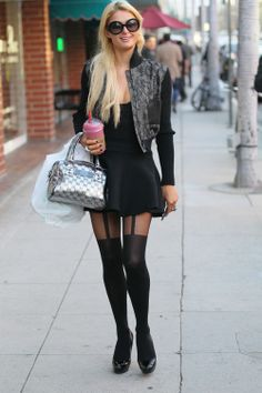 How to Wear Suspender Tights Like a star :)