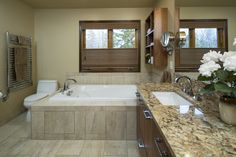 A master bath remodel finished by Fair & Square Remodeling. #fairandsquare #masterbath #remodel