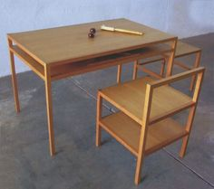 donald judd table and chair, marfa tx