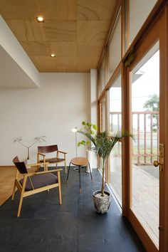 Modern Japanese Interior, Japanese Home Decor, Japanese House, Flat Interior, Room Interior, Interior Design, Cool Rooms, Style At Home, Patio