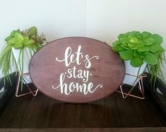 FineDesignbyOla on Etsy Wood Signs For Home, Home Signs, Lets Stay Home, Close To Home, Off White Color, Hand Painted Signs, Rustic Farmhouse, Wooden Signs, House Warming
