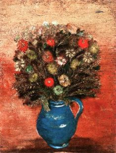 Jankel Adler Bunch Of Flowers, Vase, Painting, Home Decor, Bouquets, Polish, Visual Arts, Eagle, Decoration Home