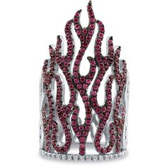 BERRICLE Sterling Silver Simulated Ruby CZ Woven Fashion Armor Knuckle... ($65) ❤ liked on Polyvore
